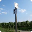Wegweiser für Fahrradtour-Routen