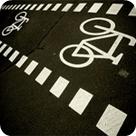 Straßenmarkierungen für Radfahrer